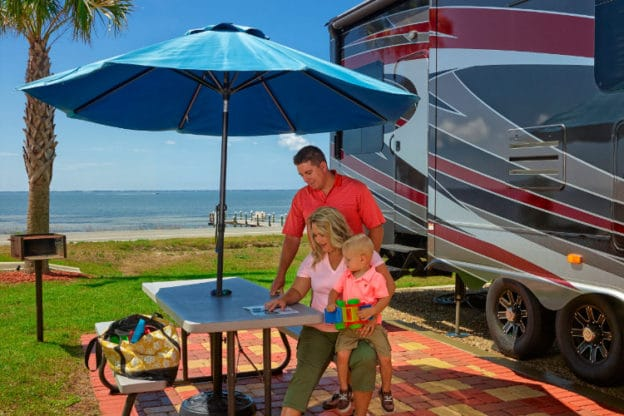 Family enjoying stay at Coastline RV Resort in Eastpoint