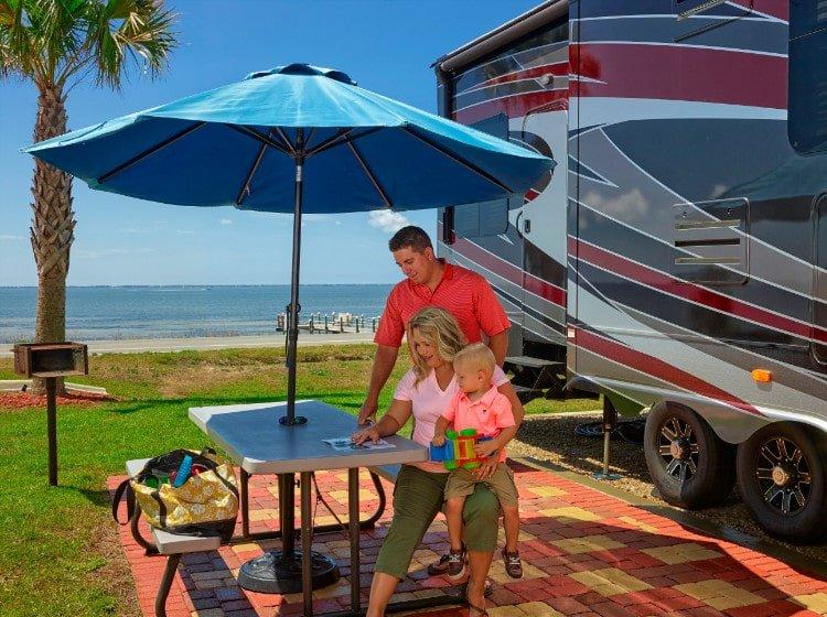 Family enjoying stay at Coastline RV Resort in Eastpoint