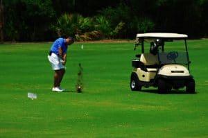 Golfing at St James Bay in Carrabelle, Florida