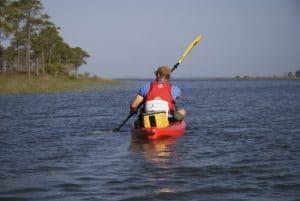 Paddling in Apalachicola Bay