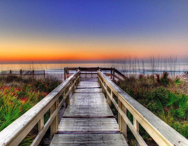 Dock Sunset Photo of the Forgotten Coast