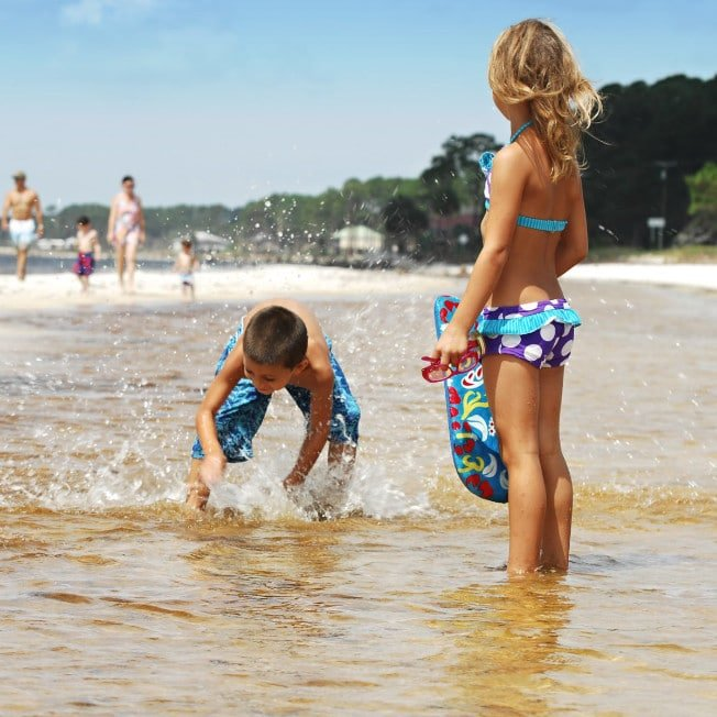 Kids playing at Carrabelle Beach