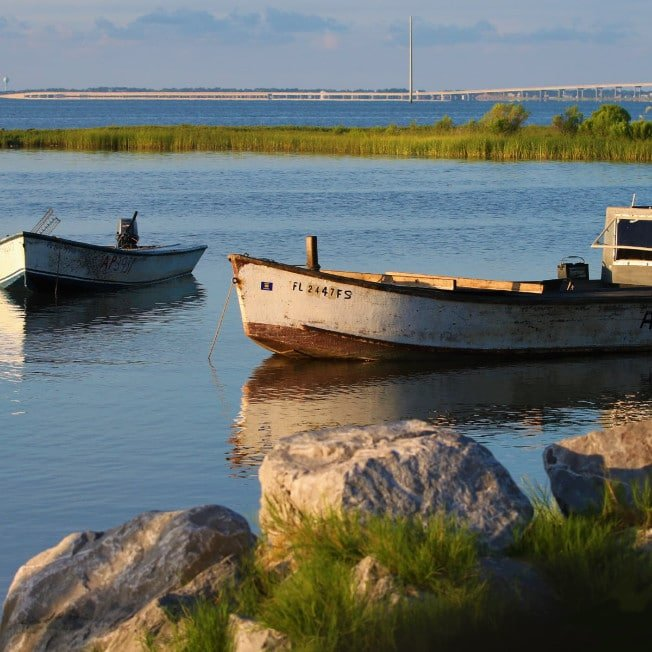 Oyster Boats in Eastpoint Florida