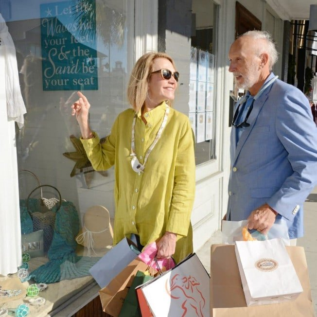 Couple Shopping in Apalachicola Florida