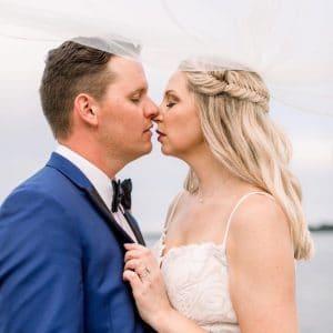 Florida Beach Wedding - Just Married Couple