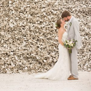 Just Married Couple Apalachicola - Oysters