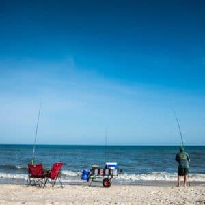 Man Beach Fishing St. George Island Florida
