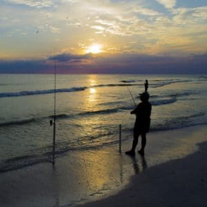 Sunrise Fishing on St. George Island Florida