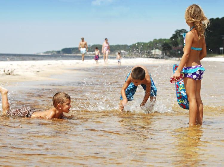 Carrabelle Beach Kids Playing