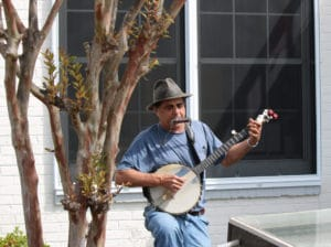 Man playing music in Carrabelle Florida