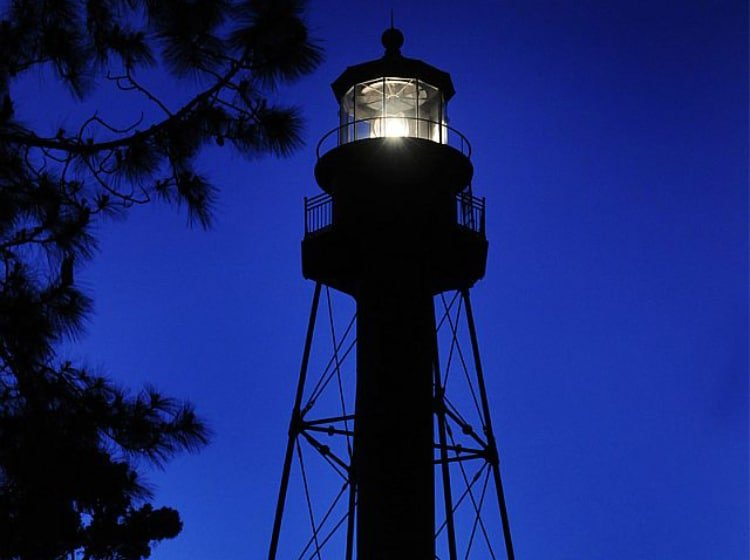 Carrabelle Lighthouse Full Moon Climb by Bo May