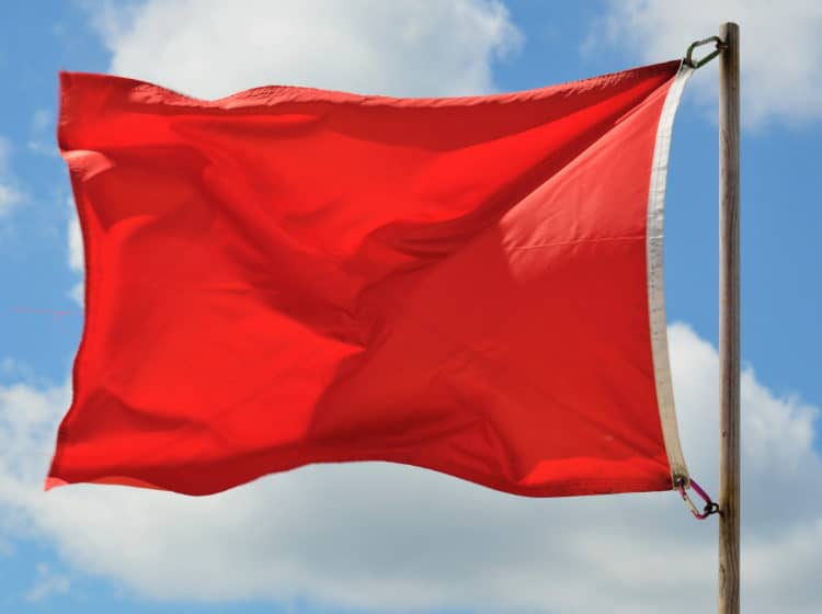 Red Beach Flag on Florida's Forgotten Coast