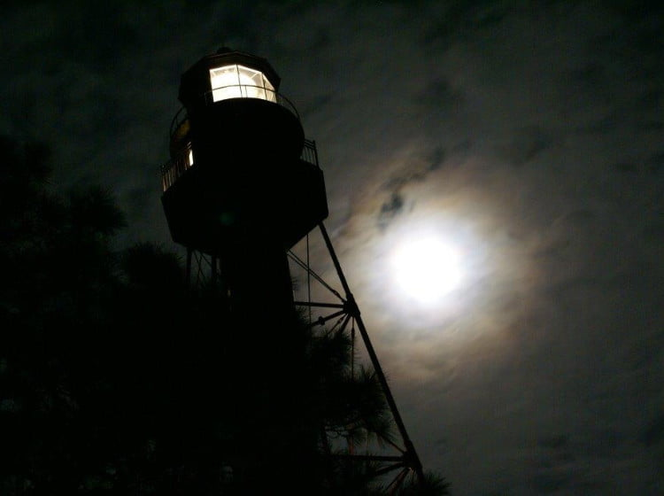 Full Moon Climb by Rod Gasche in Carrabelle Florida