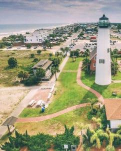 Cape St George Lighthouse on St George Island Florida