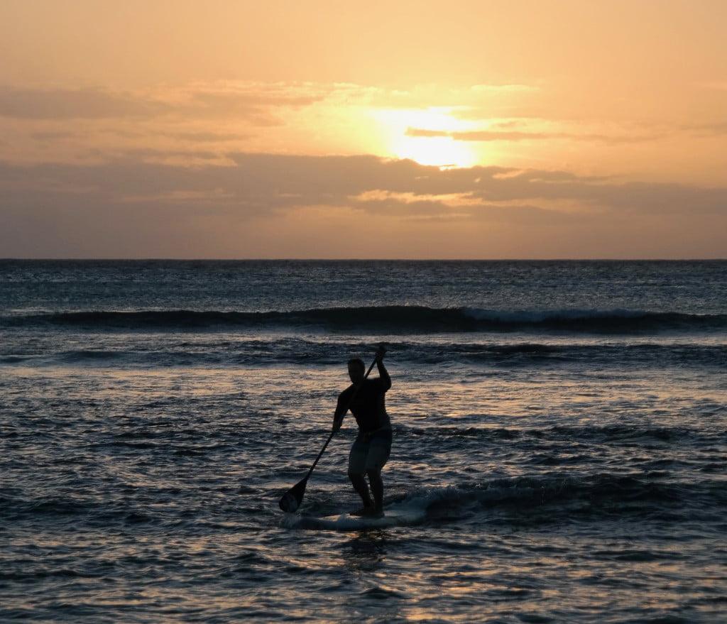 Paddle Surfing on St George Island Florida