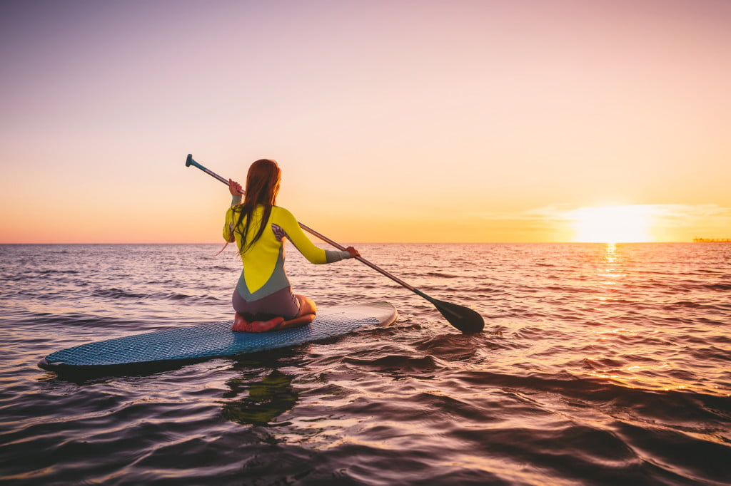 Paddleboarding on St George Island Florida