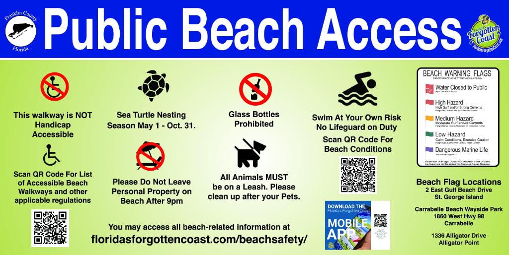 Public Beach Access sign