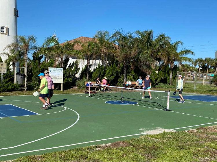 Pickleball Court on St. George Island FL