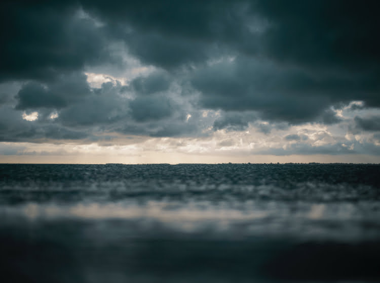 Rainy day on the beach