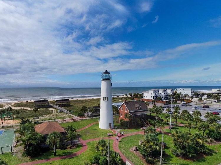 Aerial View of St. George Island, FL