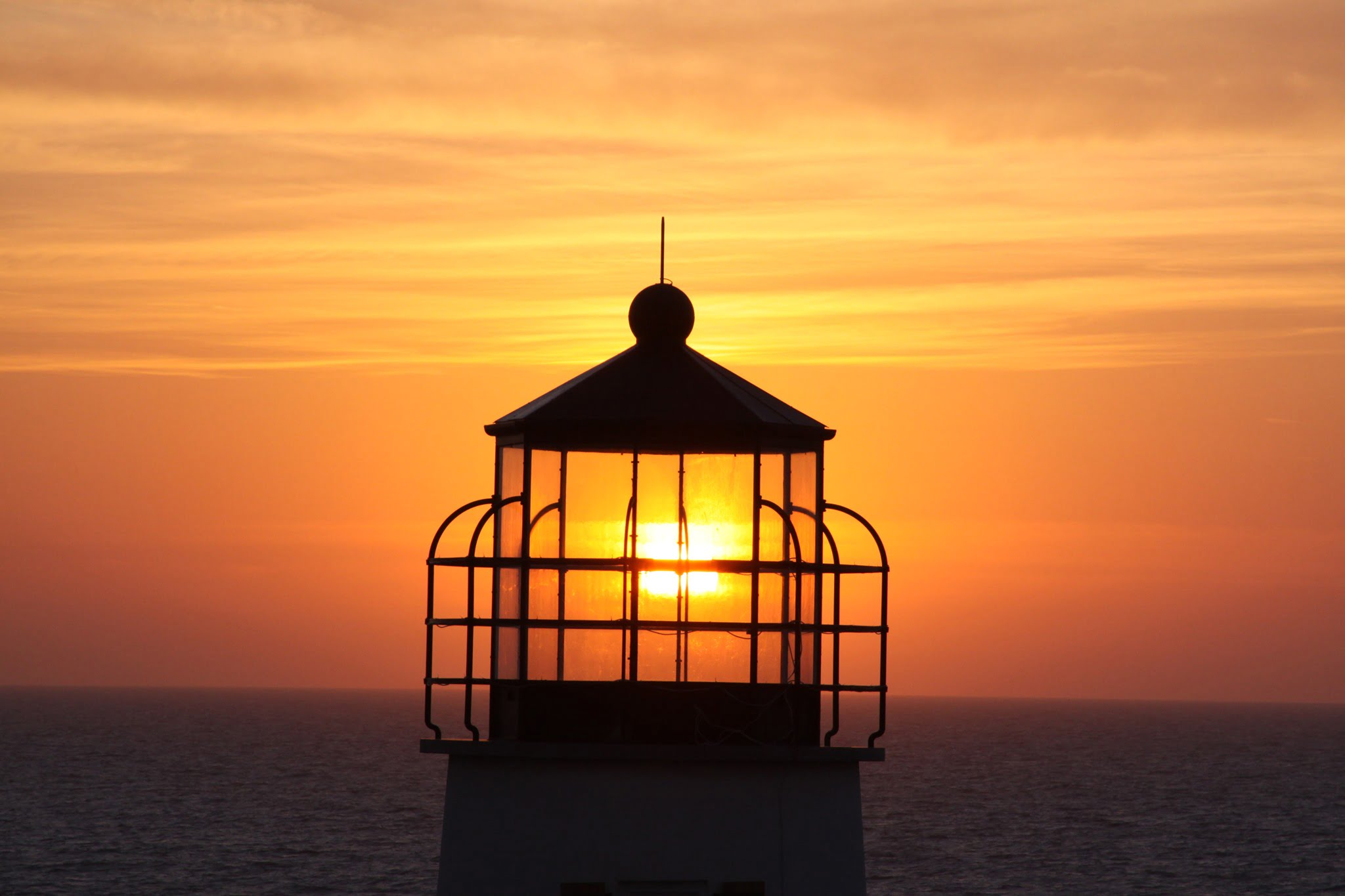 Sunset view from Cape St. George Lighthouse