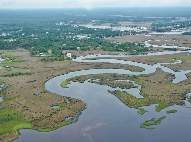 Aerial View of Carrabelle Florida