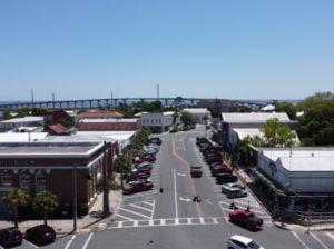 Aerial View of Downtown Apalachicola Florida